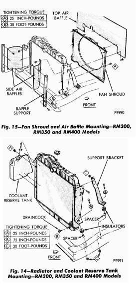 73 winnie radiator removal