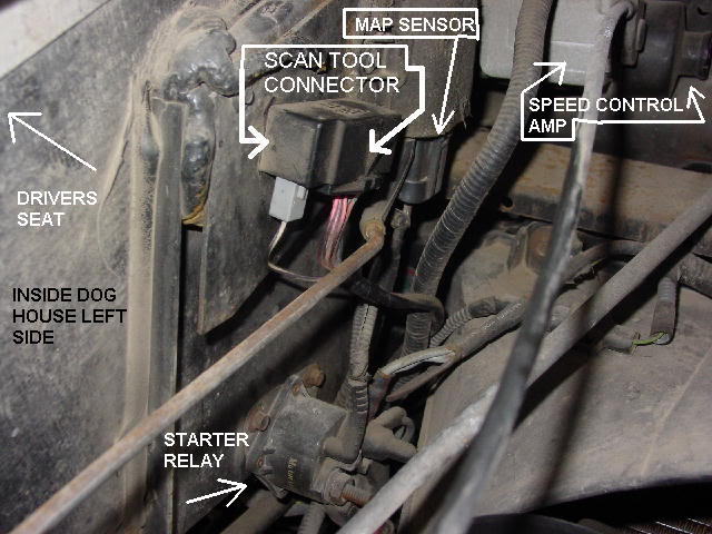 location of obd connector 97 f53