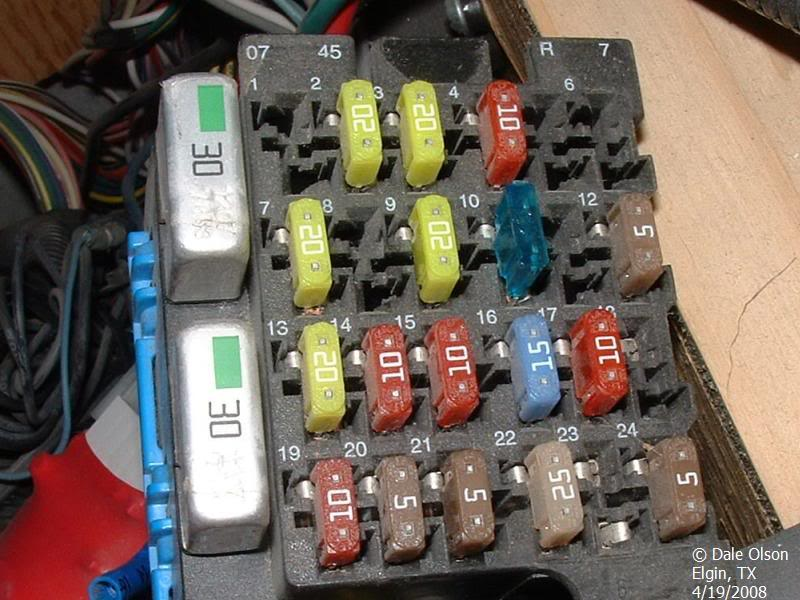 Layout for Internal Mini Fuse Panel - iRV2 Forums | Workhorse Fuse Box Panel Cover |  | iRV2 Forums