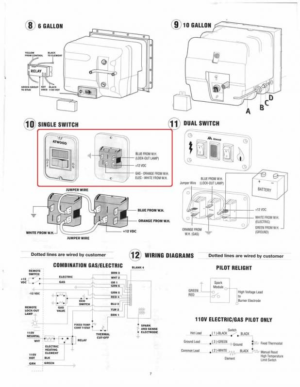 New_Atwood_Water_Heater1 wiring diagram for rv water heater the wiring diagram Suburban SW10DE Water Heater Manual at gsmx.co