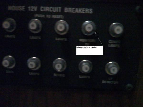 water pump fuse or circuit breaker location - winnebago ... water in fuse box car #5