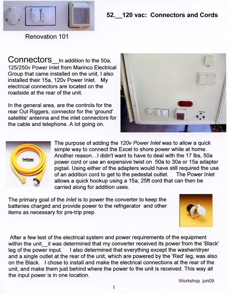 Installing A Marinco 30 Amp Rv Power Plug Conversion Kit Manual Guide