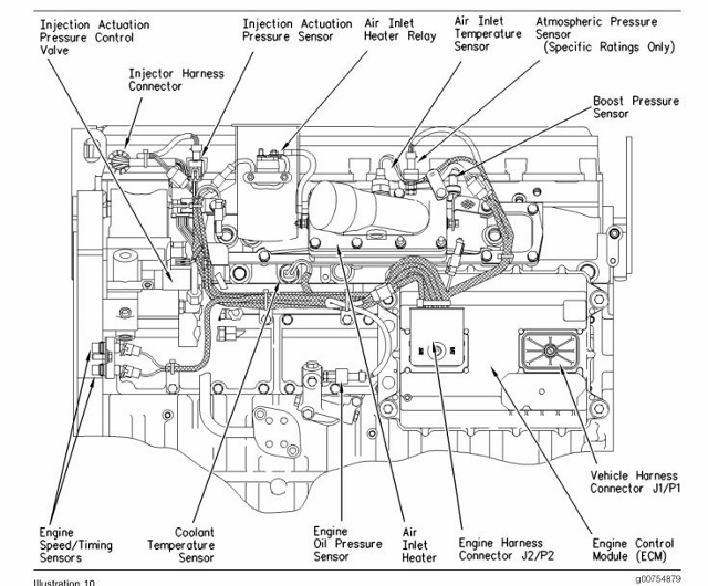 diagram of a mins isx 15 engine