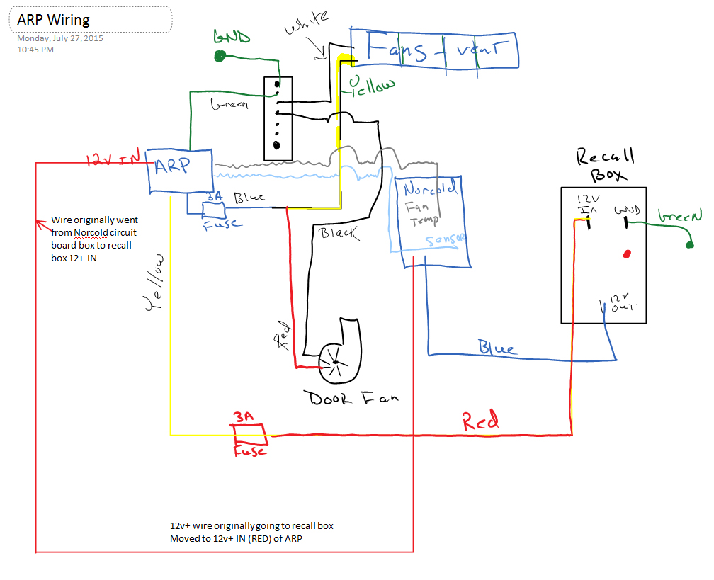 ARP Wiring with Norcold 1210 and Recall Box - iRV2 ForumsiRV2 Forums