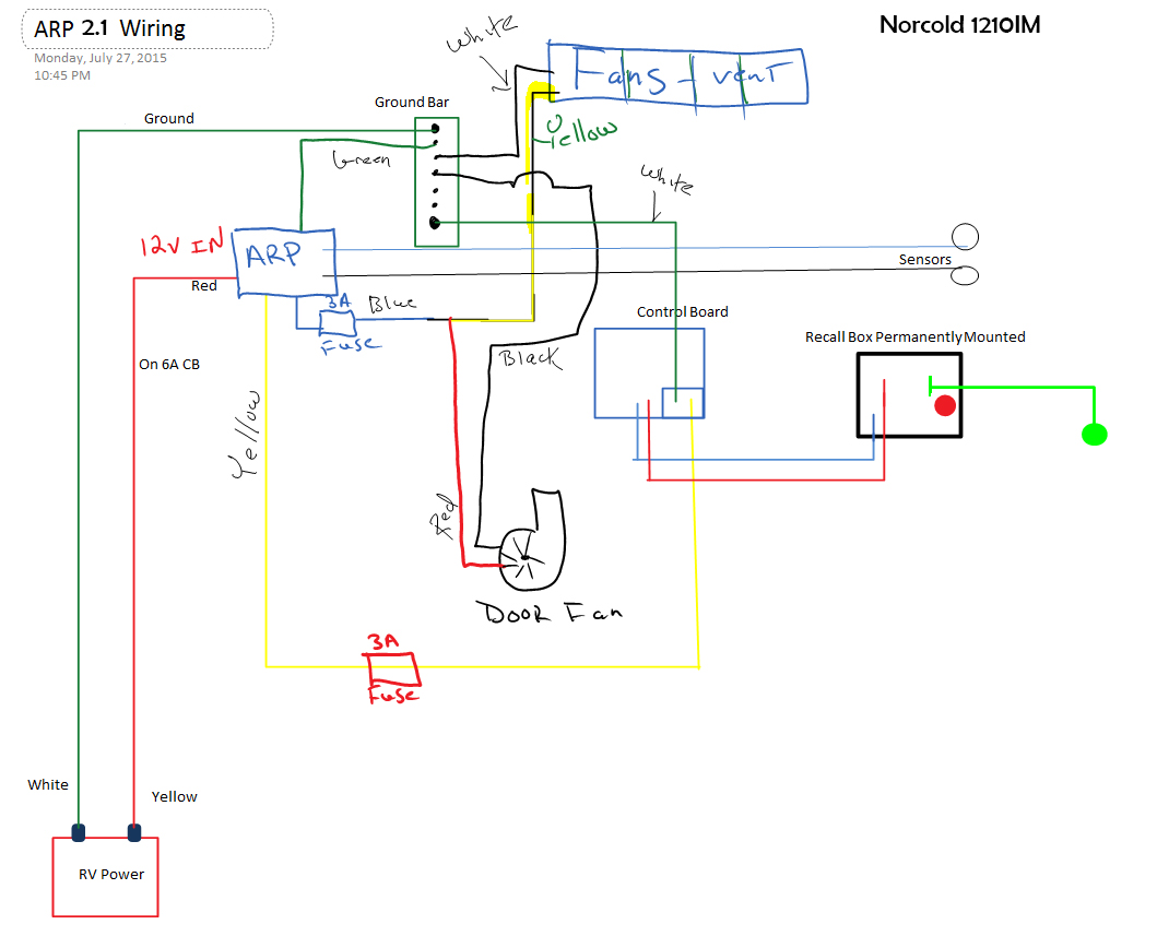 Wiring Board Diagram Rm2652 Automotive Dometic Schematic Norcold Control Fusion Heating Element Cooling Unit
