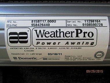 A Amp E Weatherpro Awning Irv2 Forums