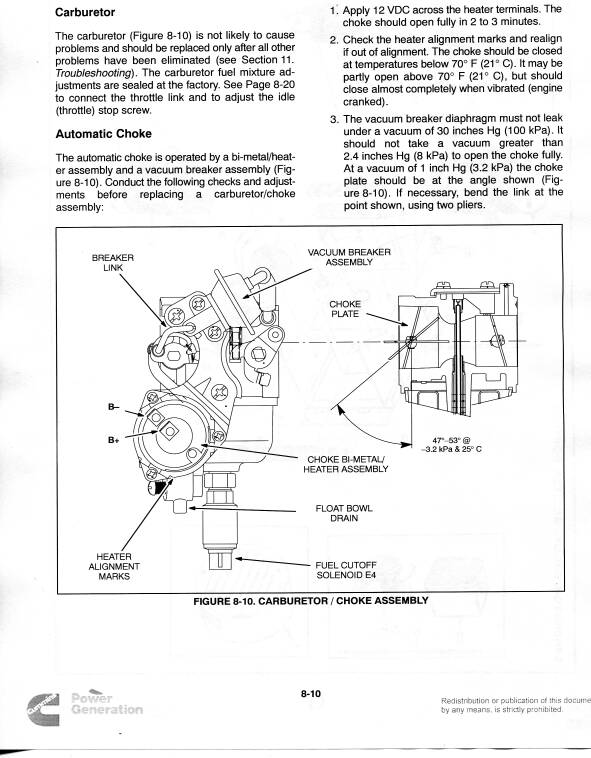 Onan Generator Carb ?? Problem (or other) - iRV2 Forums