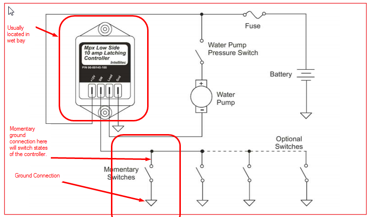 Wet bay water pump switch power supply? - iRV2 Forums Newmar Rv Key Switch Wiring Diagrams on