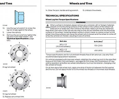 torque specsvalue  lug nuts    chassis irv forums