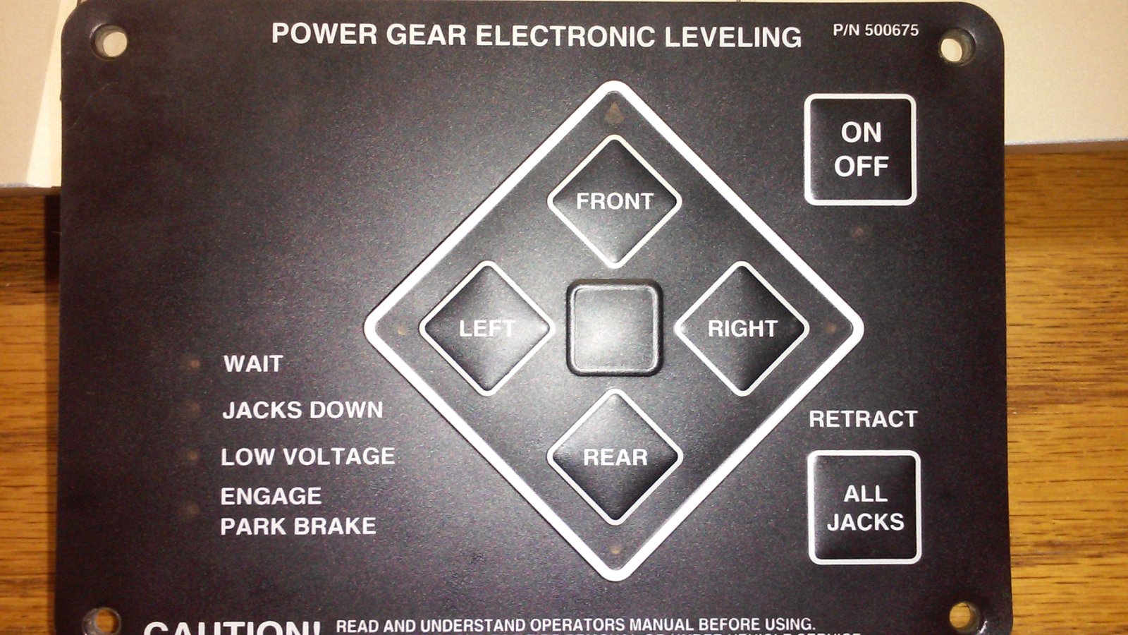 Need help wiring Power Gear Leveling Touch Panel: 500675
