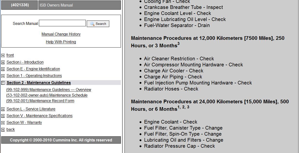 cummins 5.9 oil change interval