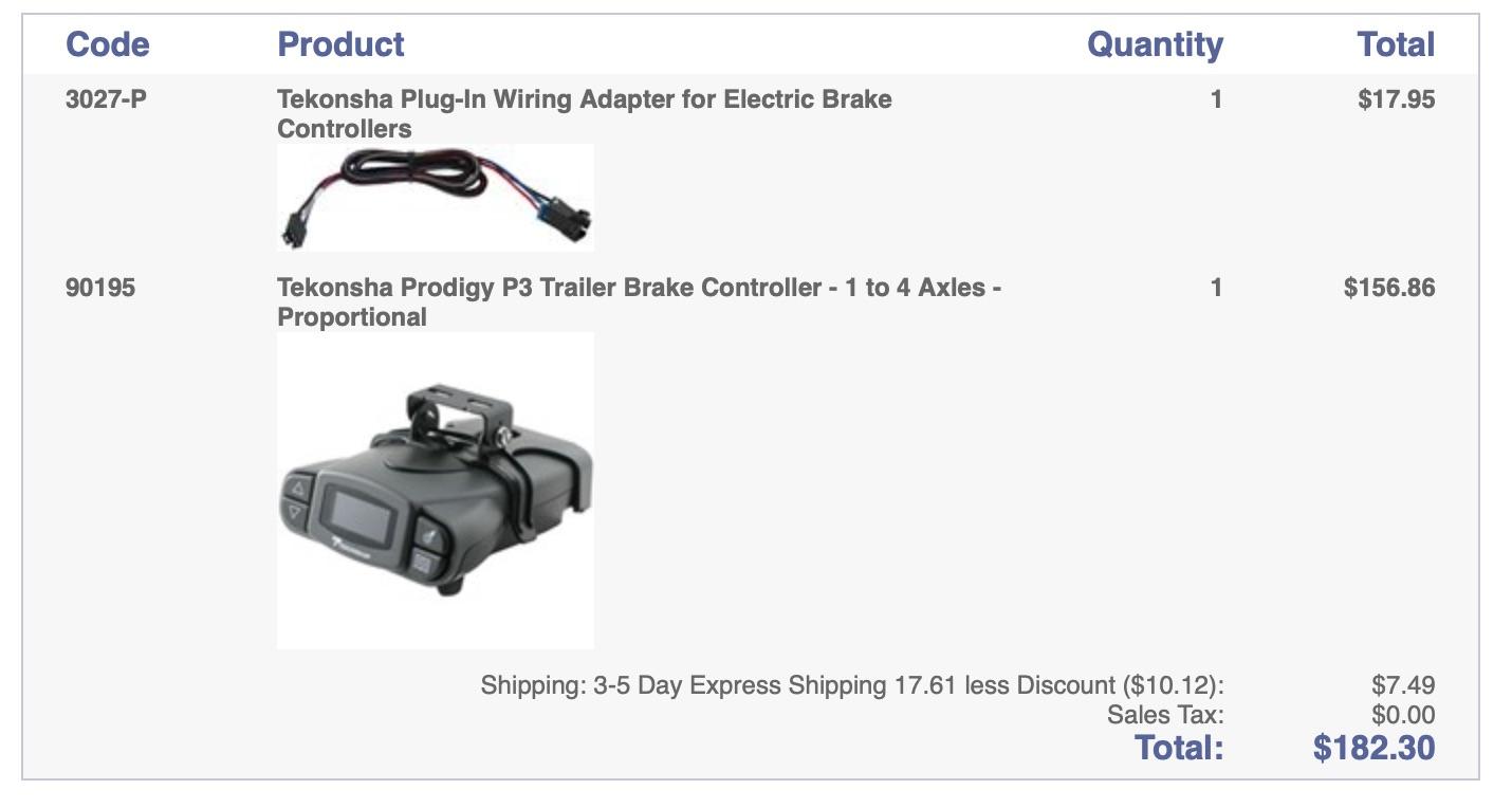 Tekonsha Prodigy Brake Controller Wiring Diagram