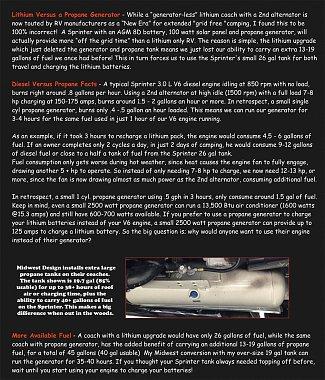 Lithium & 2nd Alternators Verses Onan Generators - Mike Mas