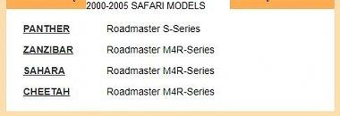 Click image for larger version  Name:2002-2005 Safari Model line-up.JPG Views:7 Size:28.4 KB ID:267335