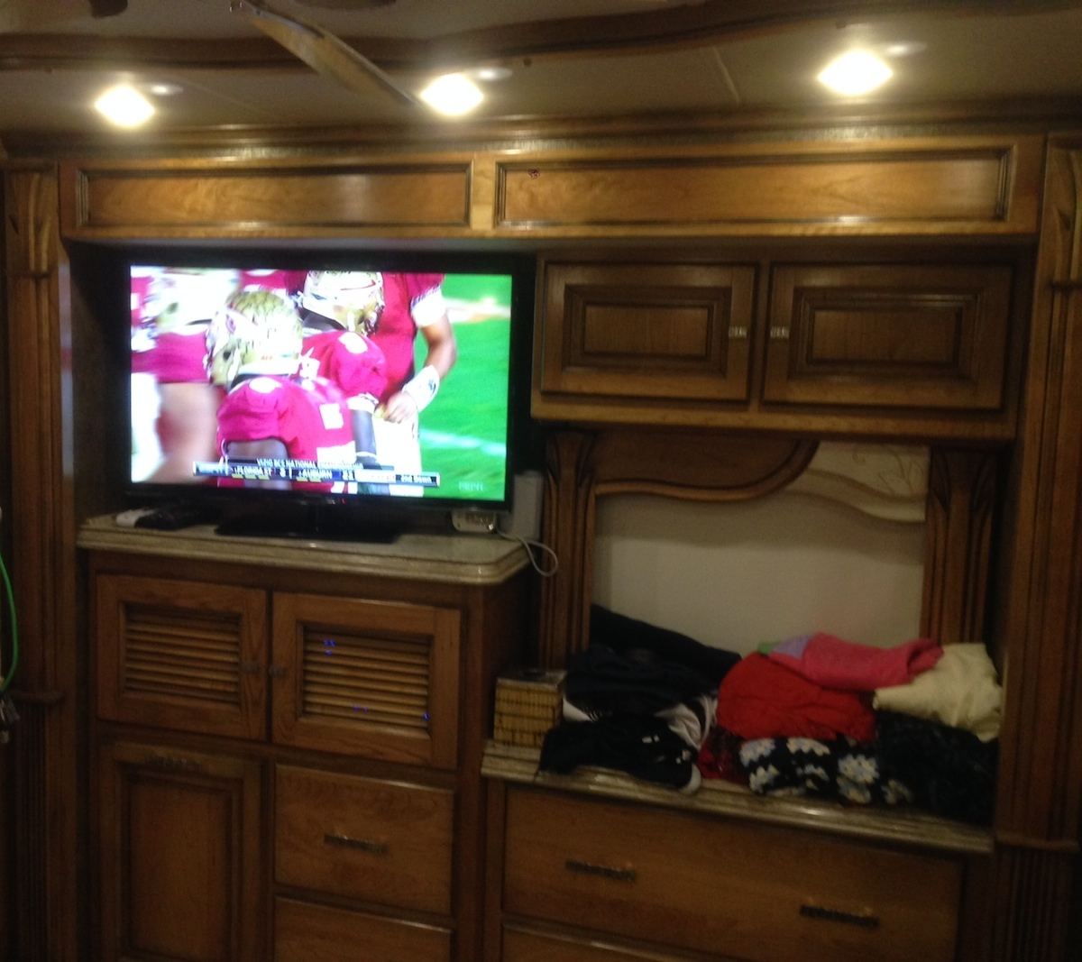 Click image for larger version  Name:Bedroom 42 inch TV Overhead Cabinets dresser Media Center and Hamper cabinetry.jpg Views:108 Size:333.0 KB ID:53493