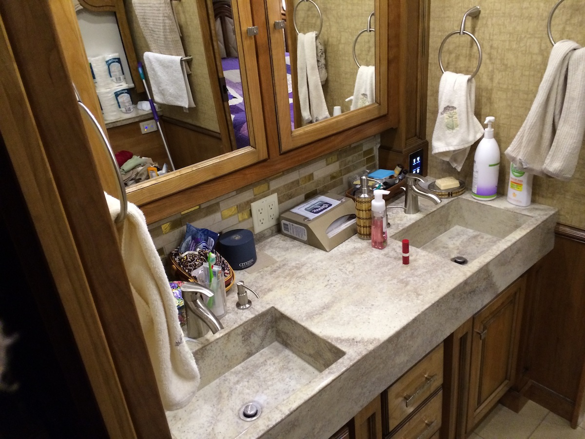 Click image for larger version  Name:Irene's Bathroom with Dual Corian Sinks and Counter Top and Large Medicine Cabinets.jpg Views:120 Size:376.0 KB ID:53496
