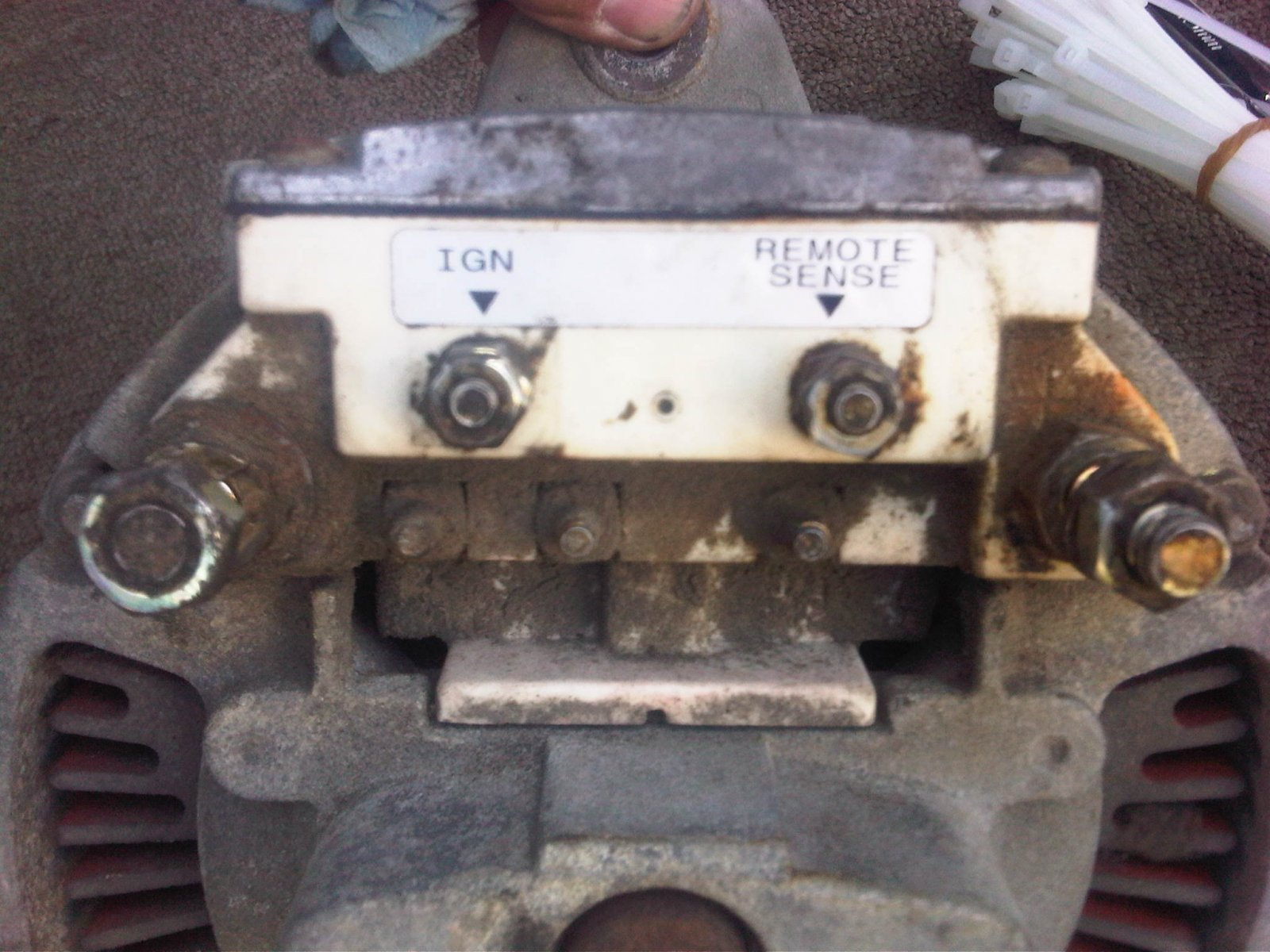 Click image for larger version  Name:6. Alternator Remvoed and on the ground cleand to see electrical labeling.jpg Views:238 Size:270.3 KB ID:6196