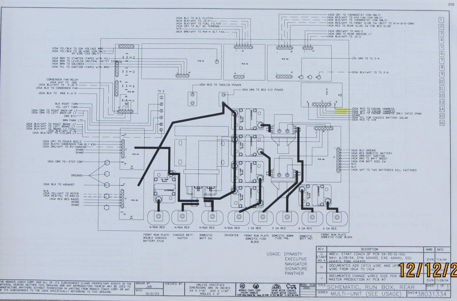 1996 F53 Fleetwood Motorhome Wiring Schematic Fleetwood