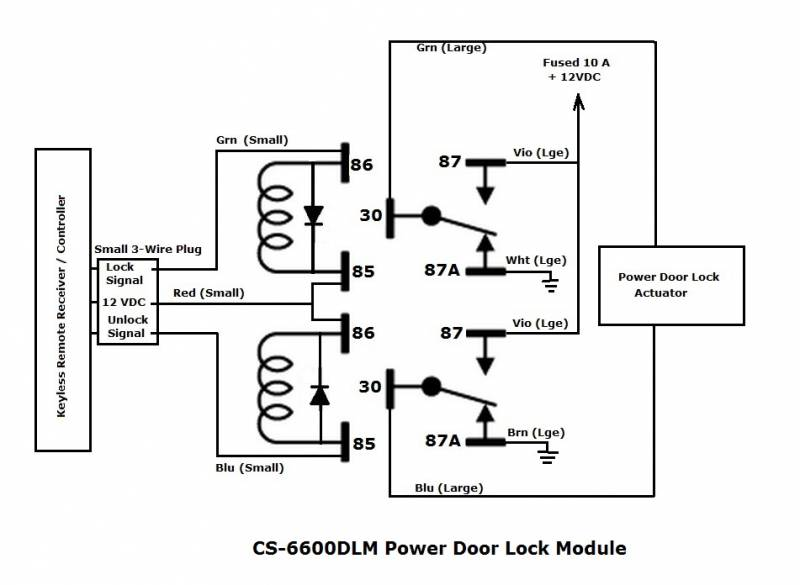 Door Lock Module Wiring Diagram