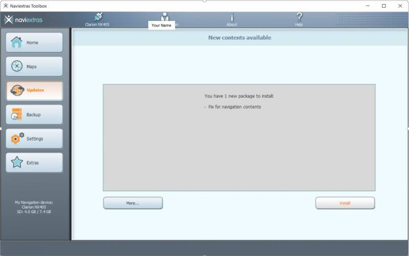 Naviextras Toolbox (free) for Clarion NAV Units - iRV2 Forums