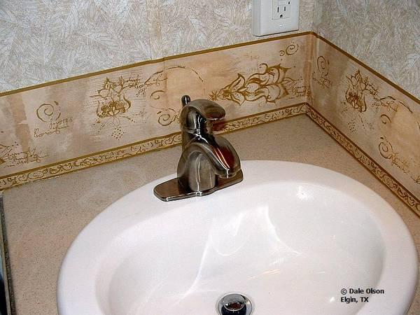 Leaking bathroom sink