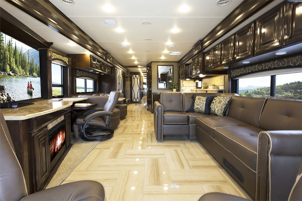 New 2015 Thor Motor Coach Tuscany Model 45AT Silhouette Milan Cherry