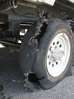 RV trailer tire storge safety
