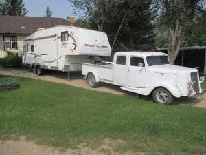 35 Ford extended cab on a 2000 GMC 2500 chassis.